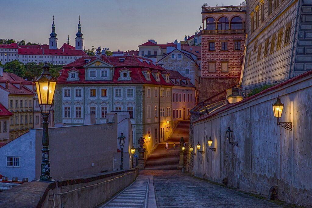 Old Town Buildings Street Twilight  - TomasHa73 / Pixabay