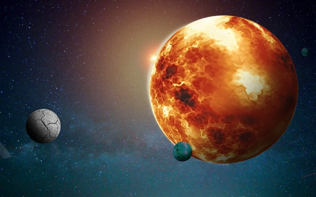 Planet X Moons Eclipse Space  - ParallelVision / Pixabay
