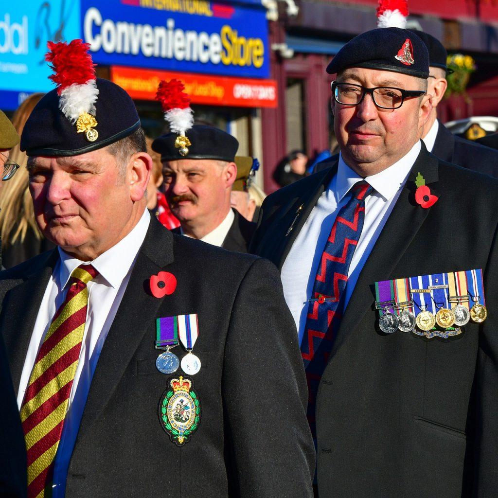 Portrait Old Soldier Flag Medals  - scan5353 / Pixabay