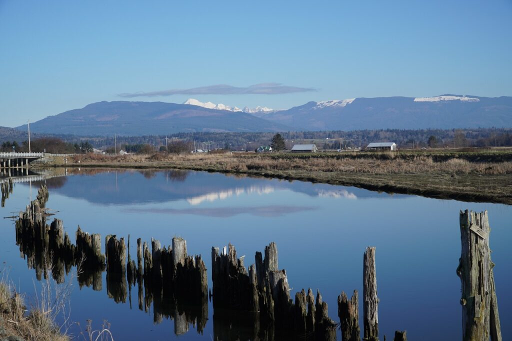 River Town Mountains Reflection  - Veronika_Andrews / Pixabay