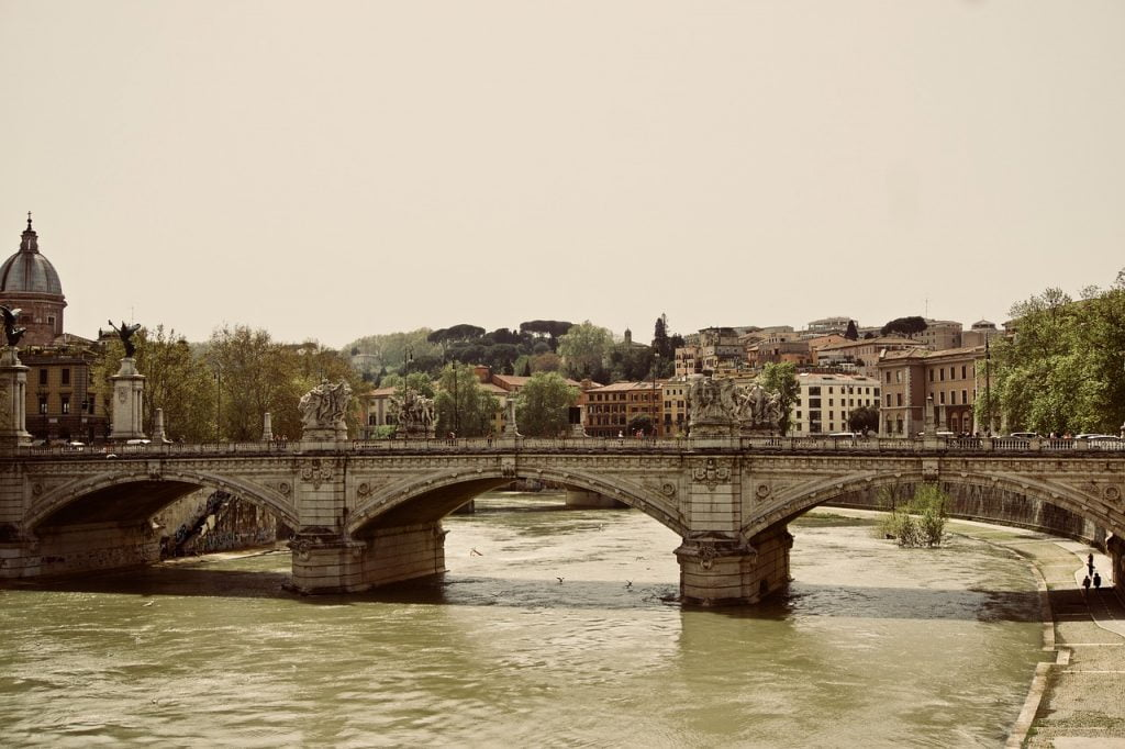 Rome River Bridge Europe Italy  - tracymiche21 / Pixabay
