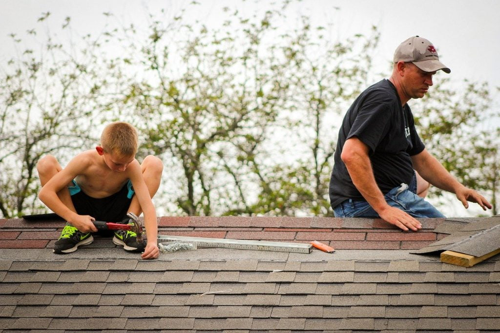 Roofing Father Son Family Roof  - hannahlmyers / Pixabay