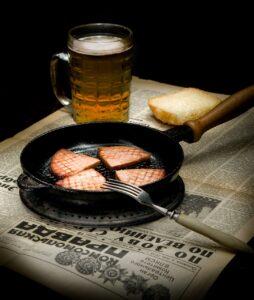 Sausage Beer Fried Roast Newspaper  - svitopys / Pixabay