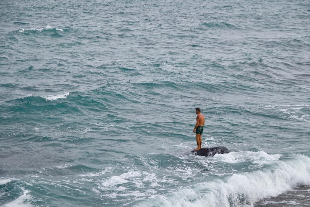 Sea Waves Man Alone Vacation  - Tistou_Malta / Pixabay