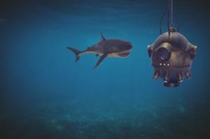 Shark Ocean Diving Bell Underwater  - flutie8211 / Pixabay