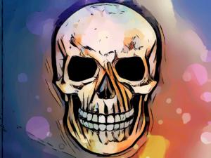 Skeleton Skull Bones Colorful Face  - squarefrog / Pixabay