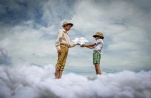 Sky Clouds Boys Kids Atmosphere  - Victoria_Borodinova / Pixabay