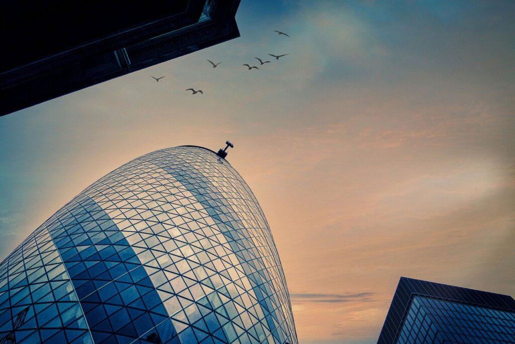 Skyscrapers Sky Birds Flying  - fietzfotos / Pixabay