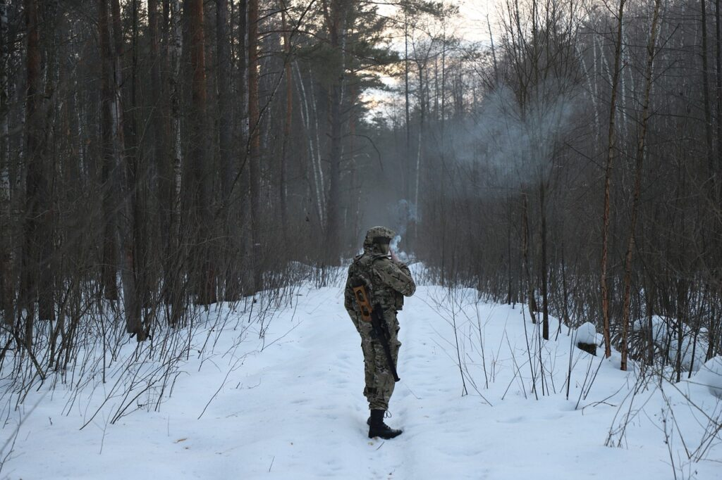 Soldier Smoke Snow Forest Frost  - Eugene_69 / Pixabay