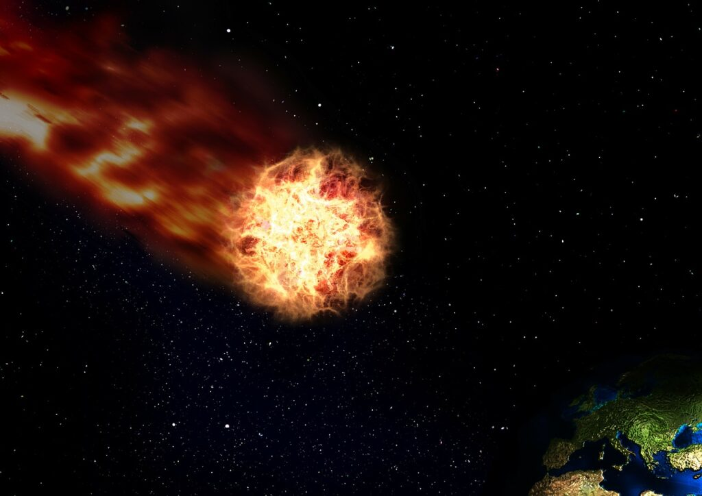 Space Universe Comet Earth Flight  - geralt / Pixabay