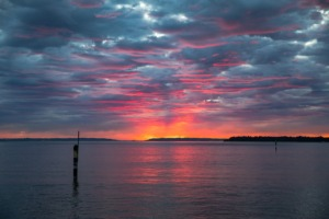 Sunrise Dawn Sea Landscape Ocean  - johnnygreek7 / Pixabay