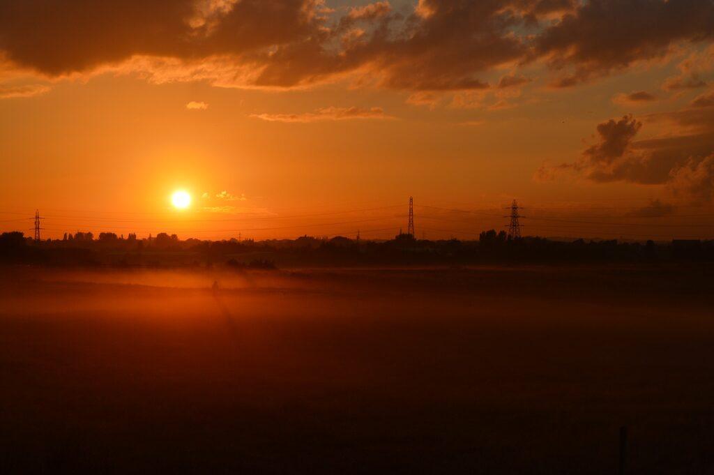 Sunset Misty Sunset Misty Landscape  - Gaz_D / Pixabay