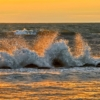 Sunset Sea Waves Splash Ocean  - lillolillolillo / Pixabay