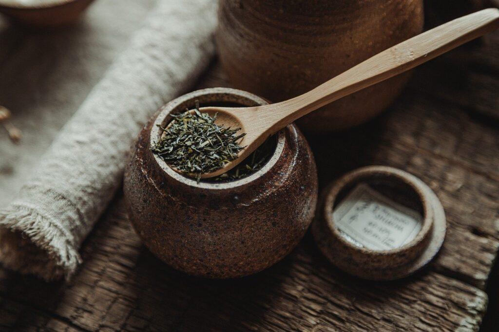 Tea Tea Leaf Tea Jar Spoon  - mirkostoedter / Pixabay