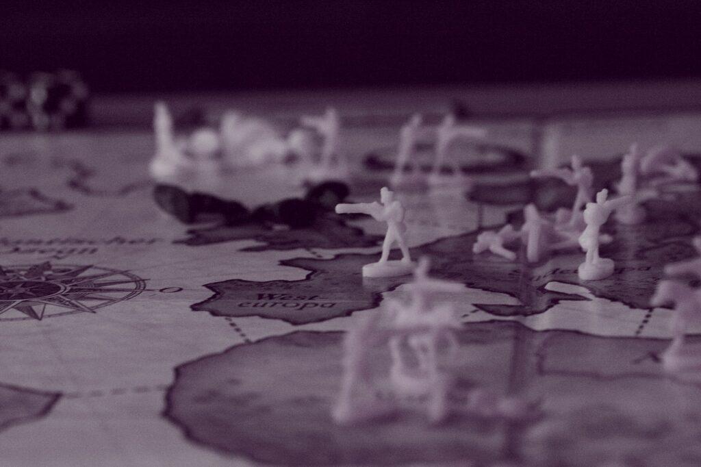 Toy Soldiers Monochrome Map  - Joa70 / Pixabay