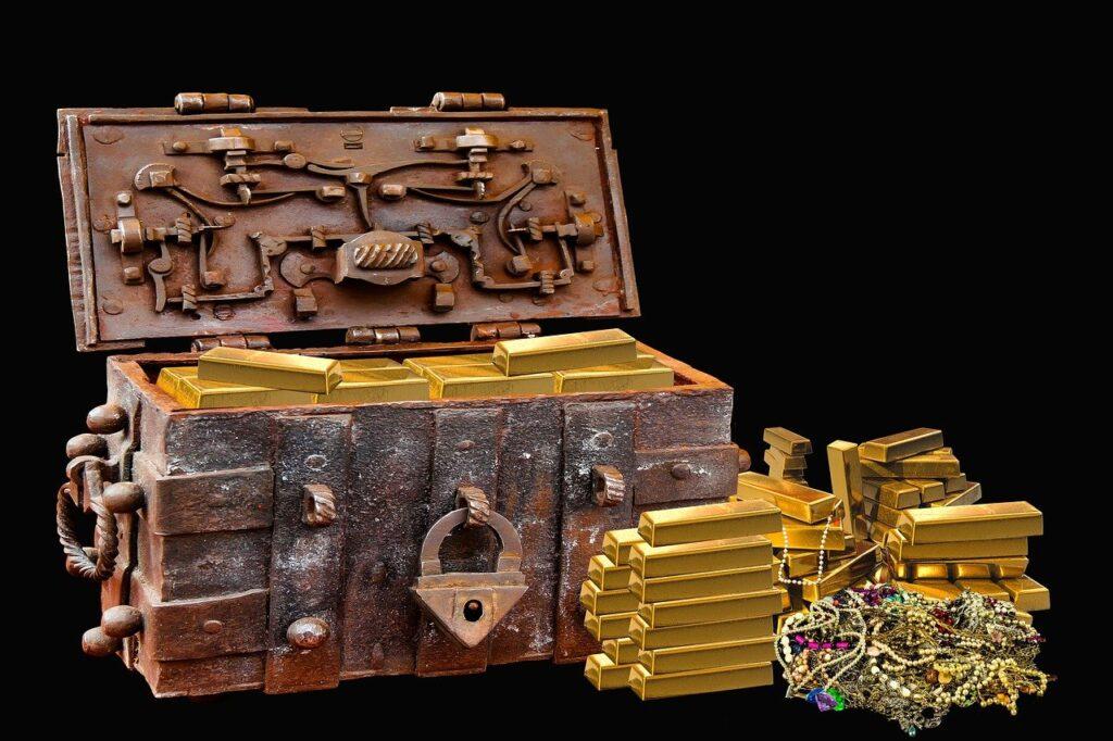 Treasure Chest Bullion Gems Gold  - blende12 / Pixabay