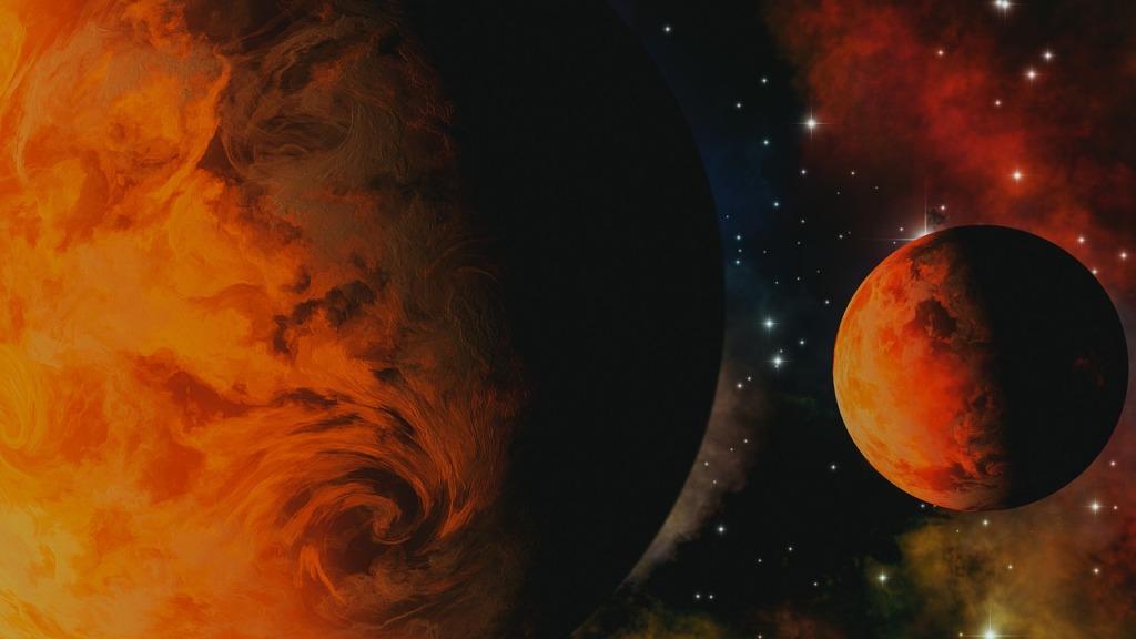 Universe Space Earth Moon Galaxy  - CharlVera / Pixabay