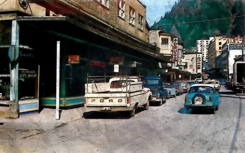 Vintage Alaska Franklin Street Juneau  - vinsky2002 / Pixabay