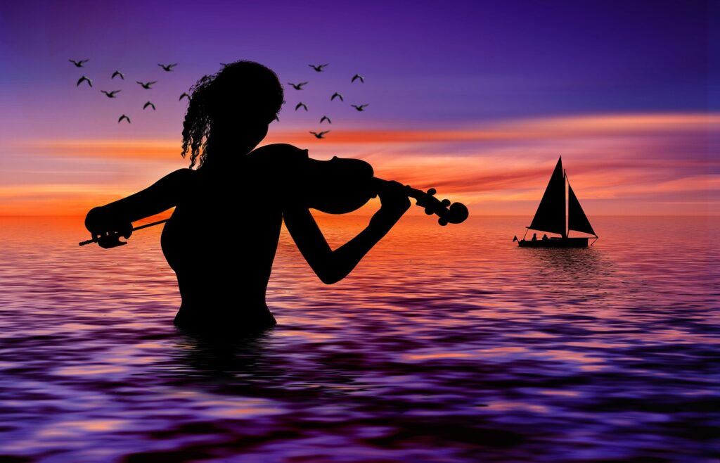 Violin Sea Boat Musician  - geralt / Pixabay