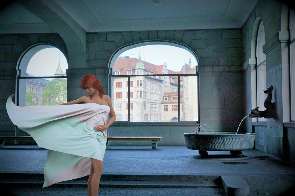 Woman Bath House Fountain Model  - flutie8211 / Pixabay