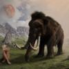 Woman Mammoth Elephant Moon Animal  - rottonara / Pixabay