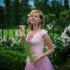 Woman Pink Dress Flowers Lily  - Victoria_Borodinova / Pixabay
