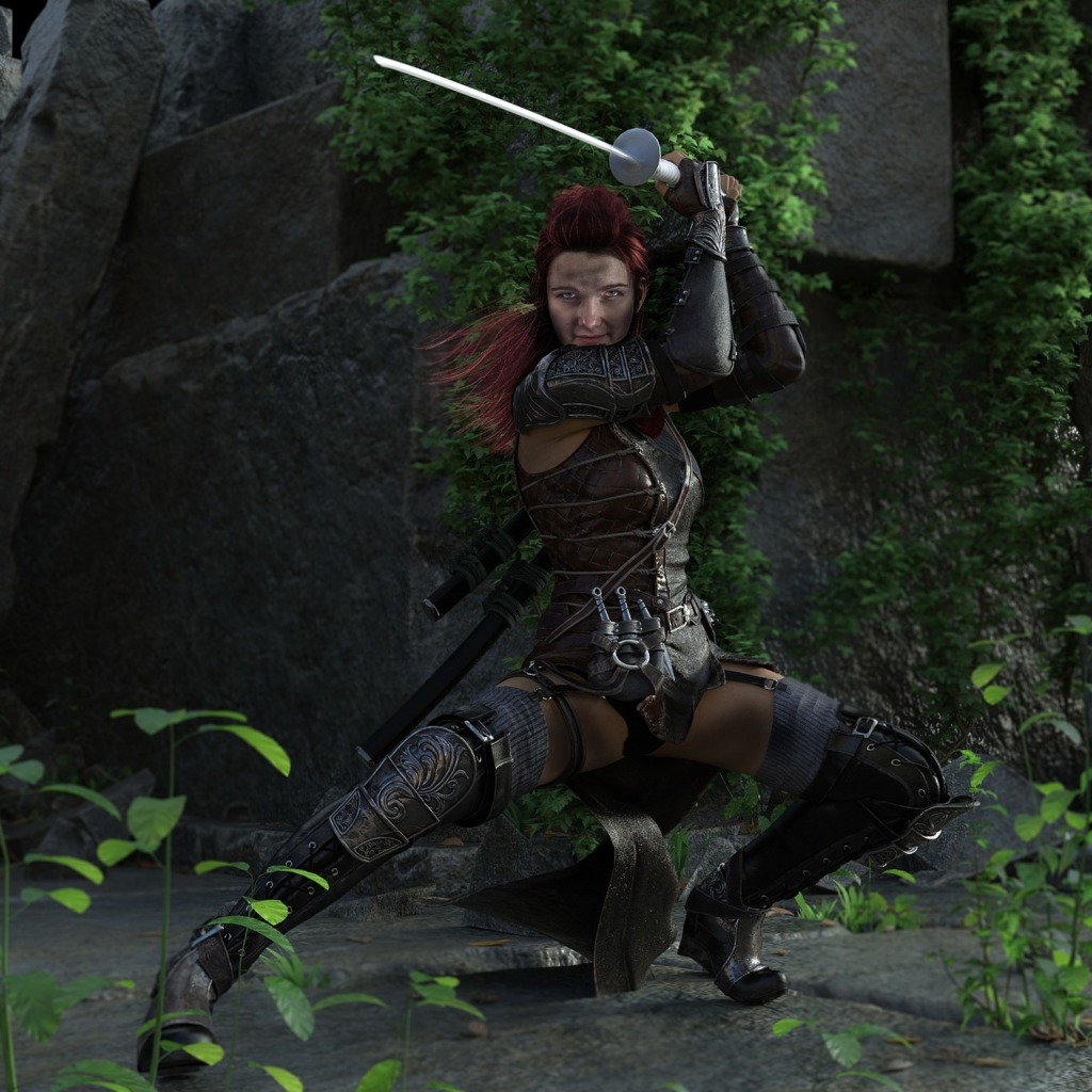 Woman Warrior Fantasy Weapon Sword  - pixdep / Pixabay