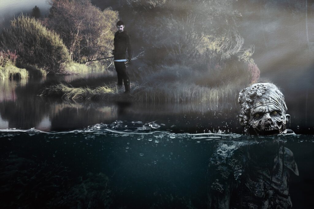 Zombie Warrior Lake Monster Water  - pixundfertig / Pixabay